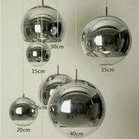 Moderne Zilveren Koperen Schaduw Verlichting Glasbol Bal Hanglamp Ronde Plafond Opknoping Lamp armatuur Keuken Lichtpunt