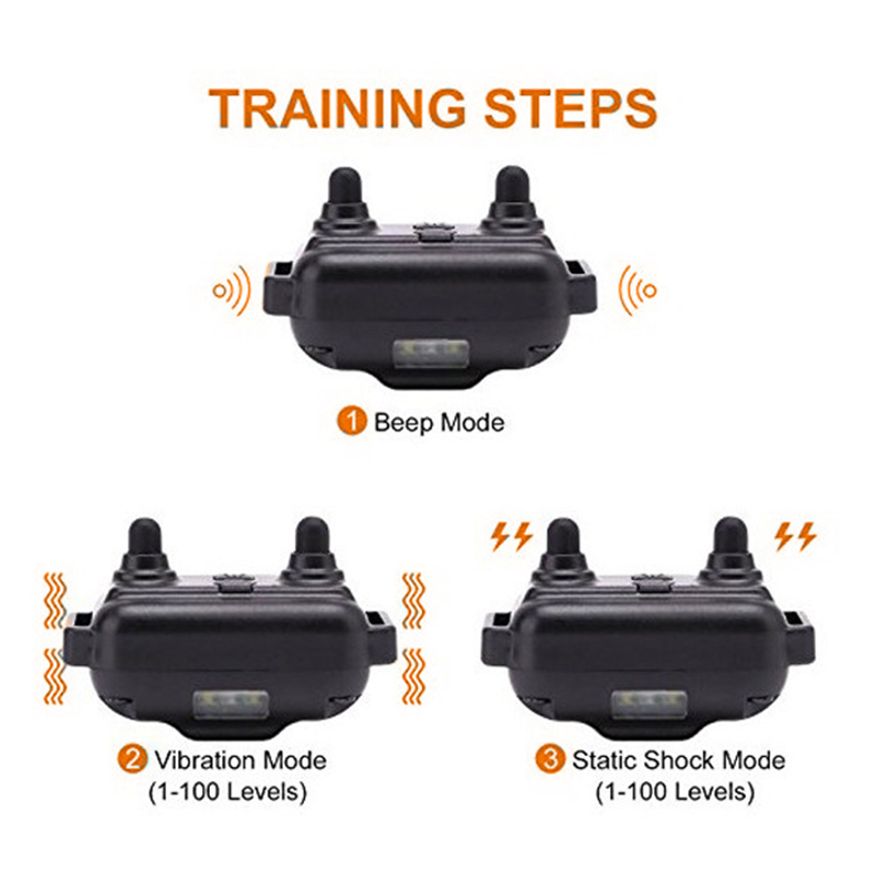Rechargeable Waterproof Electronic Dog Training Collar Stop Barking LCD Display 800m Remote Electronic Shock Training Collars 4