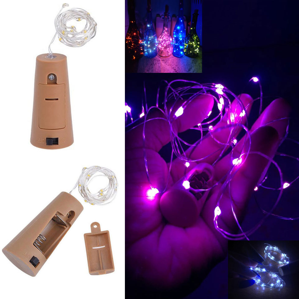 Led Silver Wire String 3m 30LEDs Waterproof Wine Bottle Cork Stopper Garland Car Festival Wedding Party Home Decoration Lights