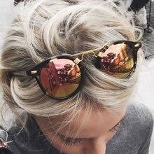 Hombres Mujeres Famoso Diseñador de la Marca Ronda Brasil Caliente gafas de Sol de Espejo Gafas de Sol Hombre Mujer Shades UV400 Tienda en línea Del ojo de Gato