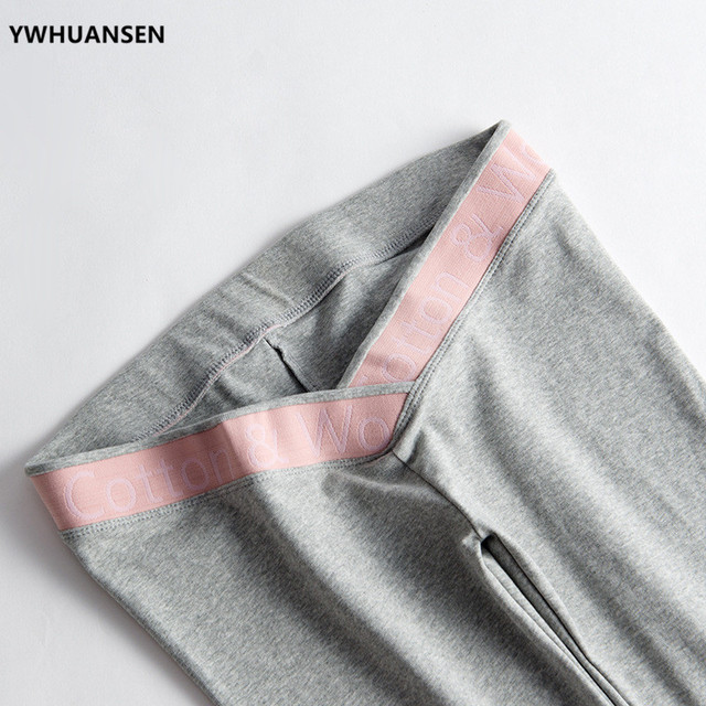 YWHUANSEN 2018 nueva llegada Legging delgado para mujeres embarazadas ropa primavera otoño pantalones de maternidad cintura baja soporte para el vientre