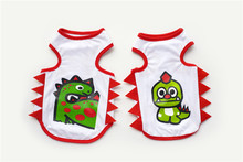 FB23 Dog Summer cool Vest – dinosaur baby &dinosaur mom design Summer dog Clothing Pets Clothes cheaper free shipping