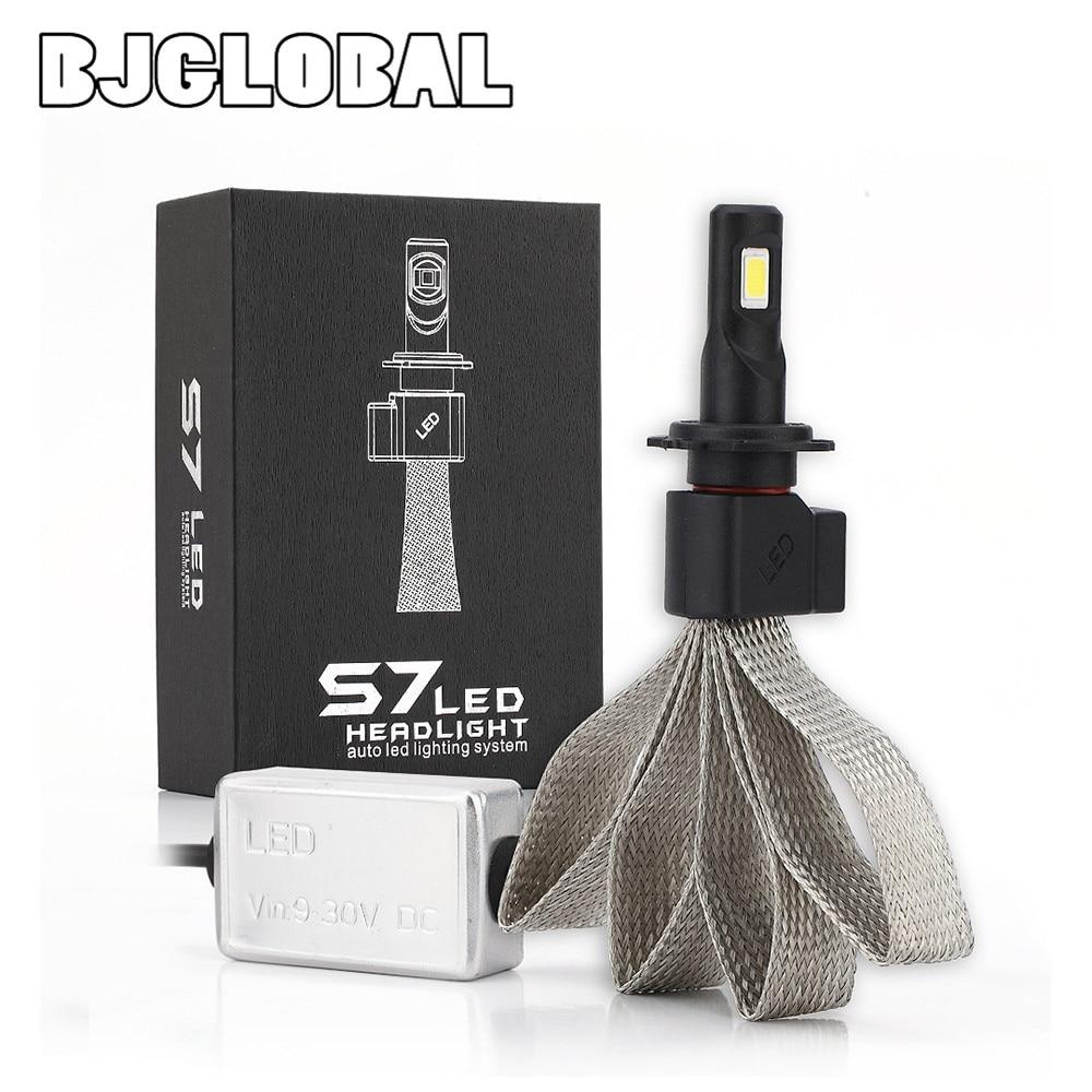 BJGLOBAL Super lumineux Auto voiture 60 W 6000 K 6400LM S7 LED H7 voiture ampoules de phares LED Kit de Conversion phare IP68 étanche