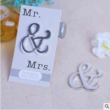 2018 New Arrival Mr&Mrs Wine Bottle Openers Silver Alloy Beer Bottle Opener 20pcs/Lot Event Party Supplies Table Centerpieces