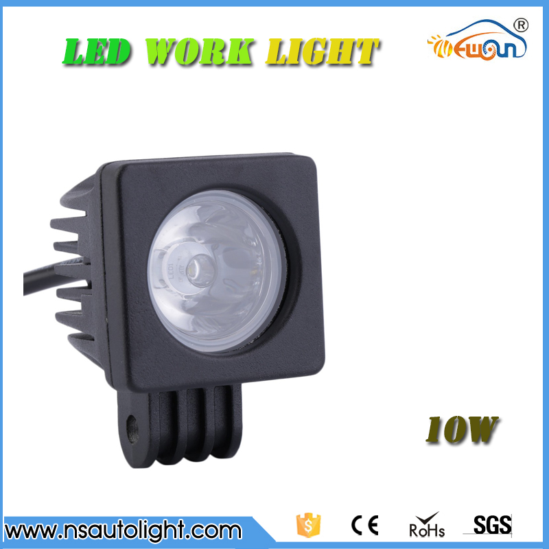 10-30V DC 10w  square automobile led work light  working light led driving lights  spot flood for 4x4 Motorcycle Boat ATV