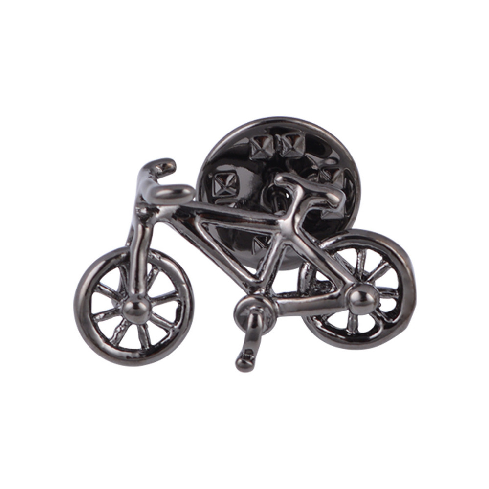 DoreenBeads Alloy Silver Fashion Cufflinks Silver Gunblack Bicycle Creative Playful Gift For Men Cuff Links Accessories,1 Pair