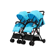 2 Pieces Baby Twins Stroller Detachabled Adjustable Foldable Infant Car Outdoor Activities Lightweight Safe Mutiple