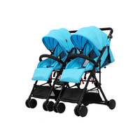 2 Pieces Baby Twins Stroller Detachabled Adjustable Foldable Infant Car Outdoor Activities Lightweight Safe Mutiple Stroller
