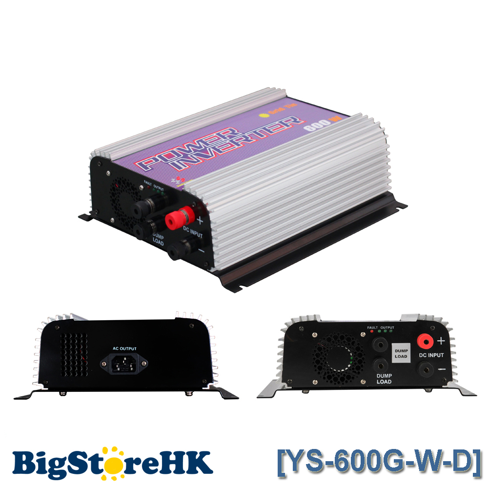 600W Grid Tie Power Inverter for 3 Phase DC To AC Wind Turbine MPPT Pure Sine Wave Inverter Build In Rectifier 600w grid tie inverter lcd 110v pure sine wave dc to ac solar power inverter mppt 10 8v to 30v or 22v to 60v input high quality