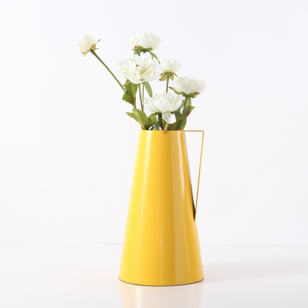 Waterproof kettle shape modern big deep yellow metal flower vase waterproof kettle shape modern big deep yellow metal flower vase homeoutdoor decoration in vases from home garden on aliexpress alibaba group mightylinksfo