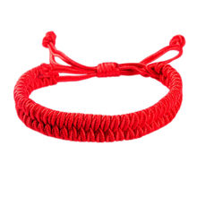 New Women Men Jewelry Handmade Waving String Bracelet Red Rope Chain&Link Bracelet Wrap Surf Bracelet Wristband BL0099(China)