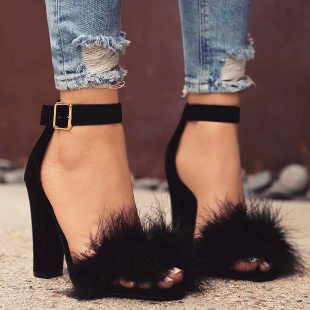 LALA IKAI Mujeres Sandalias de Ante de Las Mujeres Zapatos de Tacón Alto Calzado de Piel Real C0759-5 Boda Zapato con Cierre de Gladiador Sandalias Femeninas