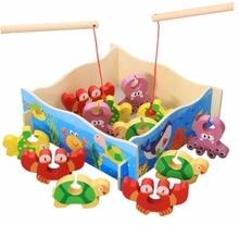 Купить с кэшбэком Free shipping 1 Set Fish Crab Octopus  turtles Kids Fishing Toys Kid Children Eearly Educational Toy