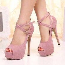SHOFOO shoes,Fashion novelty free shipping, leather cashmere fabrics, 14.5 cm high-heeled sandals, women's sandals. SIZE:34-45