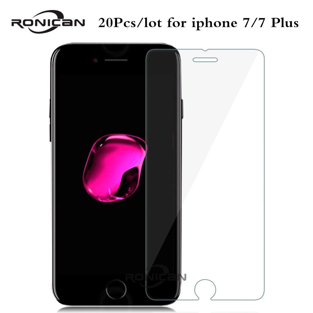 imágenes para RONICAN 20 Unids/lote Vidrio Templado Para el iphone 7 9 H 0.3 MM contra Shatter Glass Film Protector de Pantalla Protectora Para el iphone 7 Plus
