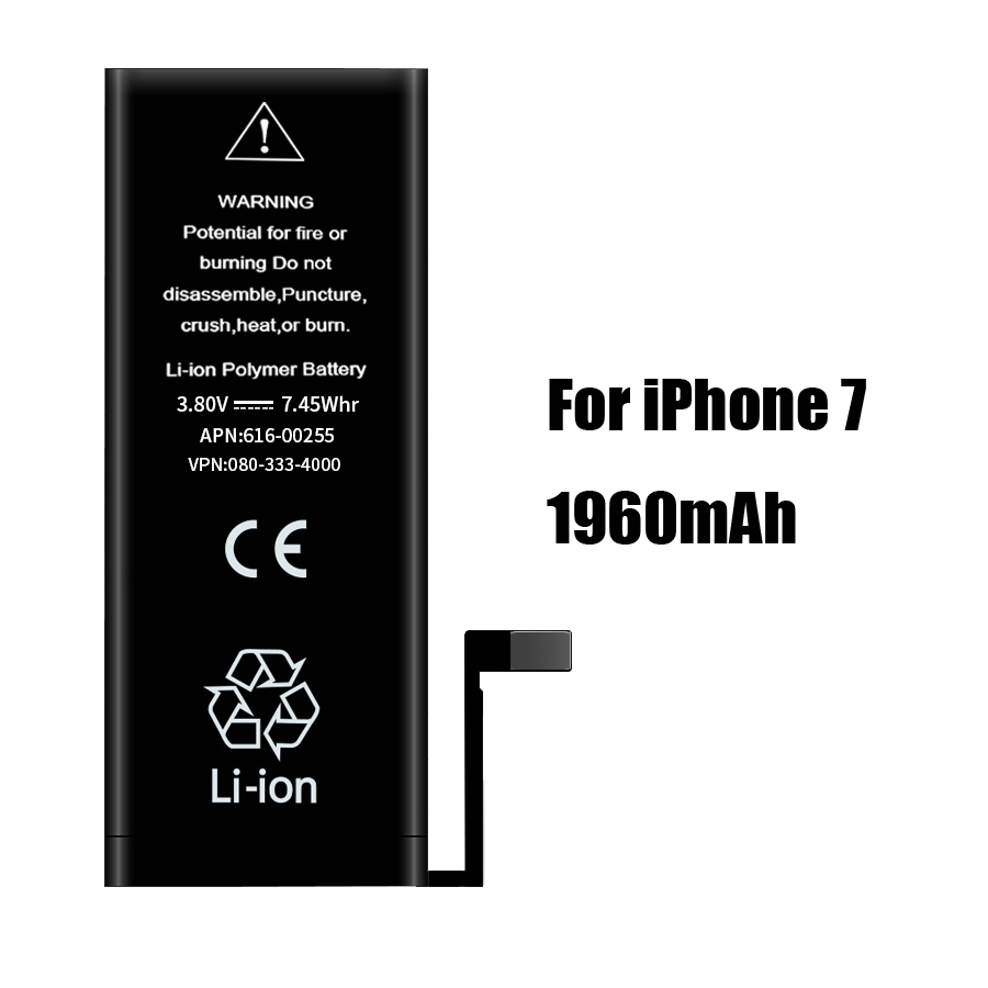 PINZHENG High Capacity Phone Battery For iPhone 7 7 Plus SE Replacement Batterie 0 Cycle Battery For iPhone 7 7 Plus Batteries
