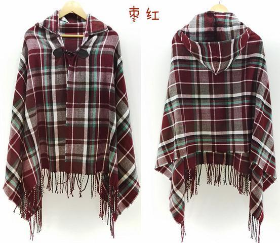 Большие шарфы, зимний шарф, Кашемировое пончо, Женская богемная шаль, шарф, племенная бахрома, толстовки, одеяла, накидка, шаль, пончо и накидки - Цвет: 2