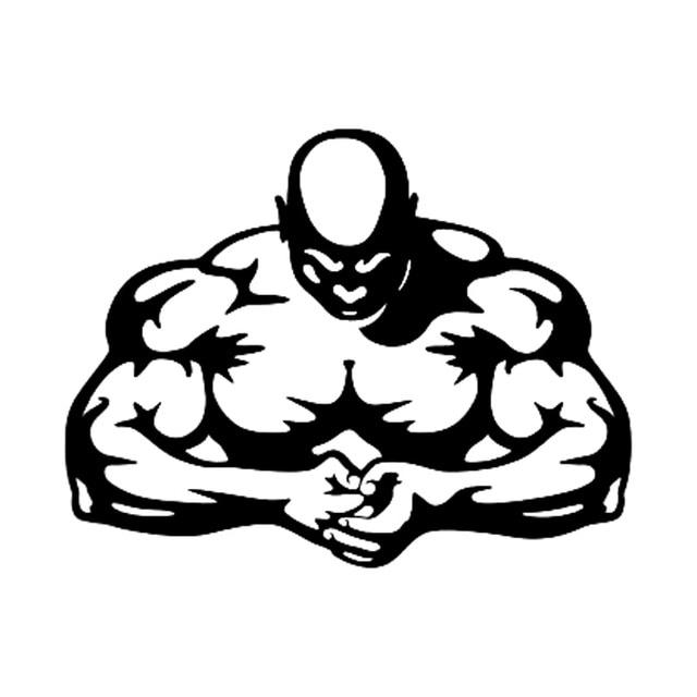 18 8cm14 6cm Bodybuilding Muscle Man Fitness Car Sticker Vinyl