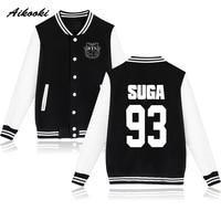 BTS Baseball Jacket Sweatshirt Women Cotton Winter Fashion Kpop SUGA 93 JUNG KOOK 97 V 95
