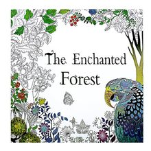 24Pages The Enchanted Forest Book Coloring for Adult Kid Painting Antistress Mandala Secret Garden Quiet Color Drawing 25*25cm(China)