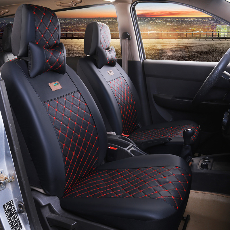 buy 7 seats universal car seat covers leather seat covers for kia po chun 730. Black Bedroom Furniture Sets. Home Design Ideas