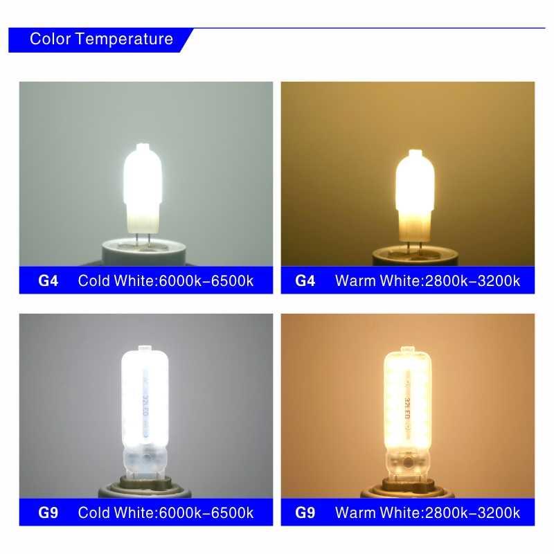 10PCS LED Birne 3W 5W G4 G9 Glühbirne AC 220V DC 12V LED Lampe SMD2835 Scheinwerfer Kronleuchter Beleuchtung Ersetzen 20w 30w Halogen Lampe