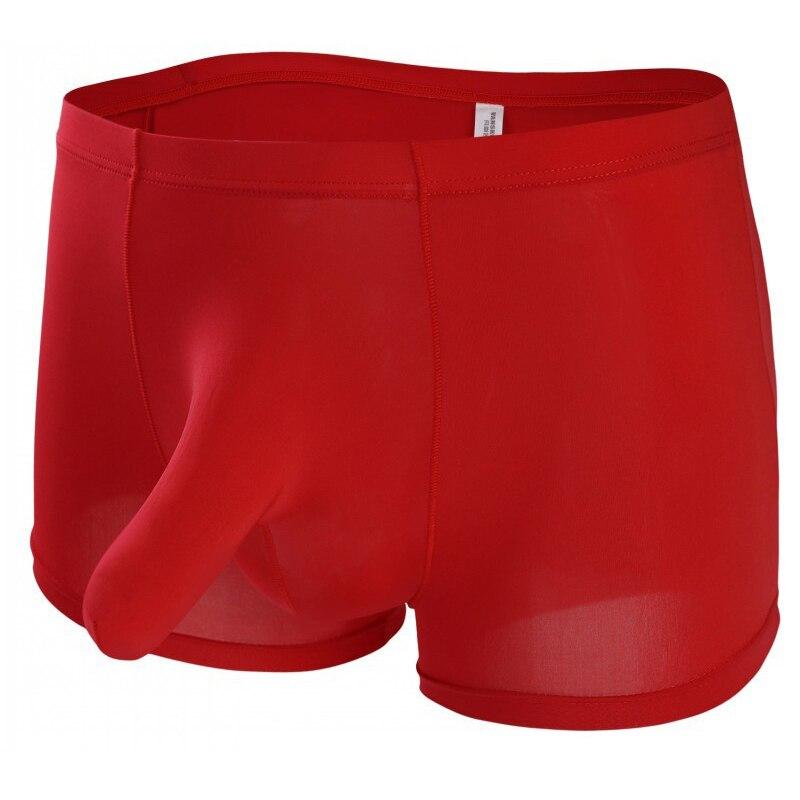 3f6349623bfc 2019 nueva marca ropa interior de los hombres nariz de elefante JJ bragas  de seda de hielo de los hombres Boxer calzoncillos para Hombre Ropa interior  ...