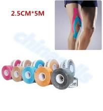 200pcs 2.5cm5m Muscle Tape Sports Tape Kinesiology Tape Cotton Elastic Adhesive Muscle Bandage Care Physio Strain Injury Support цена