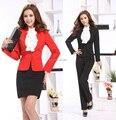Новый размер плюс 3XL мода 2015 профессиональные деловые костюмы женский комплект одежды косметолог форм офиса рабочая одежда комплект