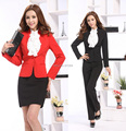 Nova Plus Size 3XL moda 2015 Professional Business ternos feminino vestuário Set uniformes de estética escritório conjunto desgaste do trabalho