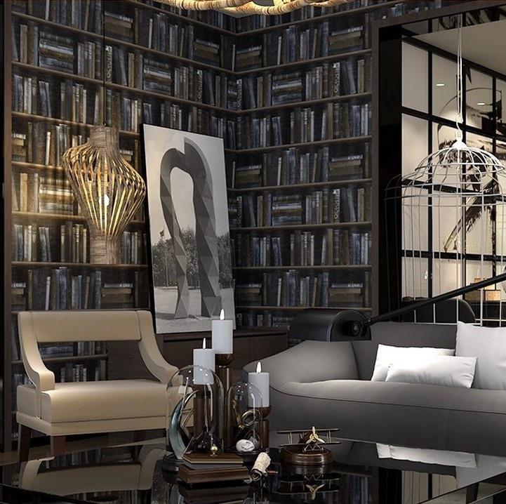 library living bookshelf retro classic wallpapers improvement