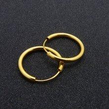 Гладкие простые Стильные тонкие однотонные жёлтые Золотые женские