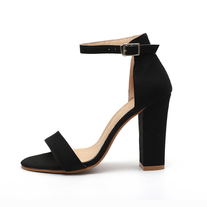 HTB1pTWXbjDuK1Rjy1zjq6zraFXaG Women Sandals Ankle Strap Summer Shoes Woman High Heels Sandals Plus Size 43 Chaussures Femme Open Toe Women Summer Sandals
