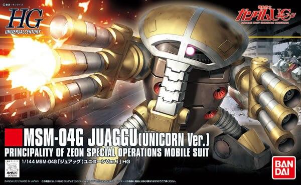 1PCS Bandai 1/144 HGUC 139 MSM-04G Juaggu brinquedos Gundam Mobile Suit Assembly Model Kits Anime action figure  Gunpla juguetes ohs bandai mg 179 1 100 sengoku astray gundam mobile suit assembly model kits