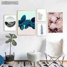 Nordic Modern Wall Art Prints Landscape Plant Canvas Poster Painting Decoration Picture Scandinavian Bedroom Decor