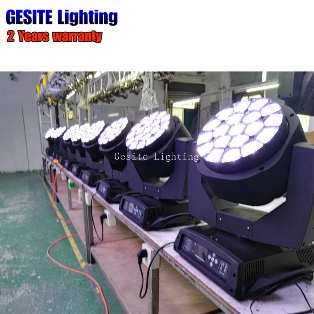Lights & Lighting 2pcs/lot Wedding Dj 19*15w Big Bee Eye K10 Zoom Wash Led Moving Head Light To Reduce Body Weight And Prolong Life Stage Lighting Effect