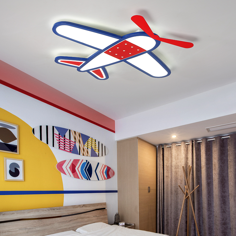 Cartoon plane Led Ceiling Lights Modern Children Ceiling Lamp for Kids Room Bedroom Home Indoor Lighting Decoration Fixture