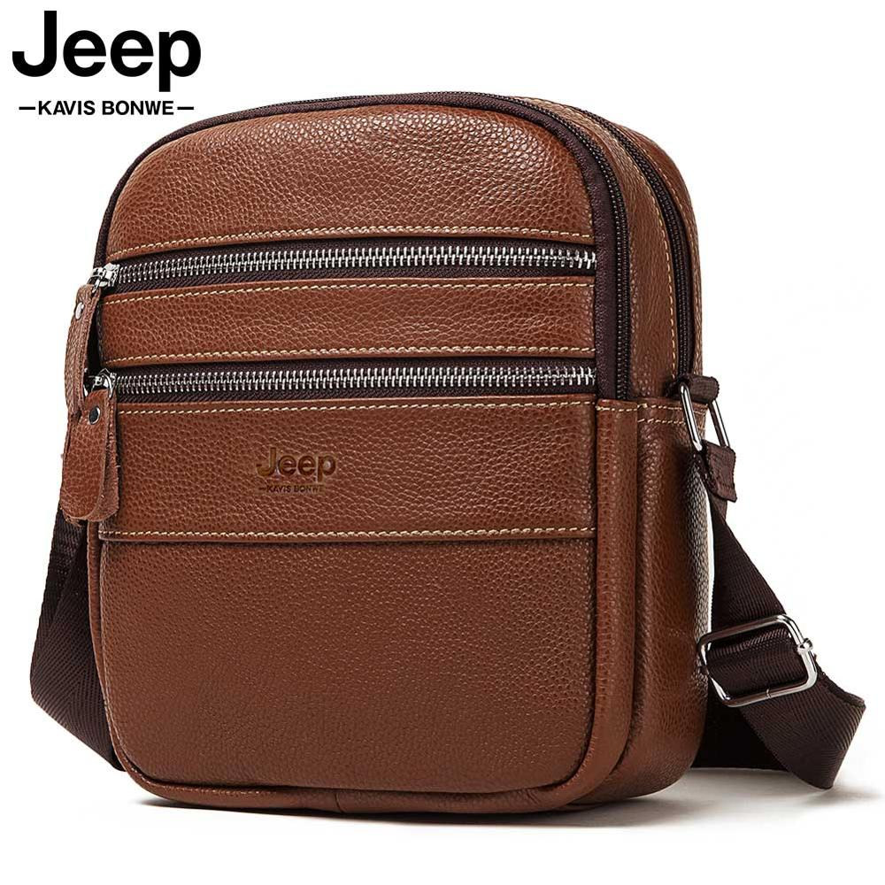 Famous Brand 100% Natural Genuine Leather Men Messenger Bag Small Casual Business  Bolsas Travel Sling Crossbody For Male