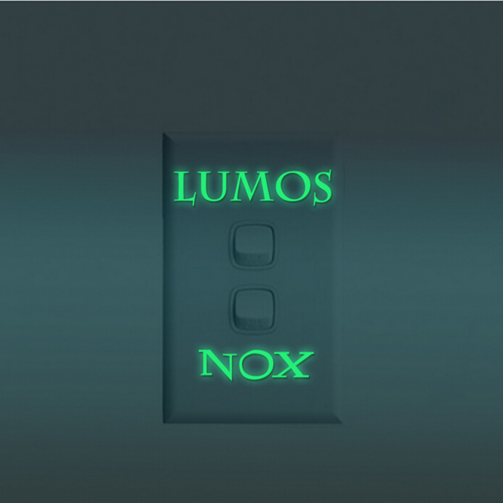 1Pcs Lumos Nox Light Switch Sticker Creative Glow In The Dark Wall Switch Sticker Wallpaper