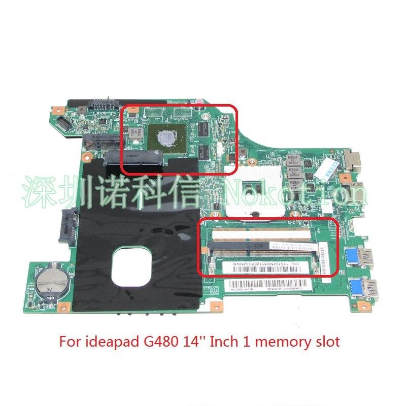 NOKOTION 11S102500517 LG4858L 48.4WQ01.011 For lenovo ideapad G480 laptop motherboard HM76 DDR3 11s102500421 55 4ya01 001 laptop motherboard for lenovo ideapad b590 hm76 ddr3 mainboard