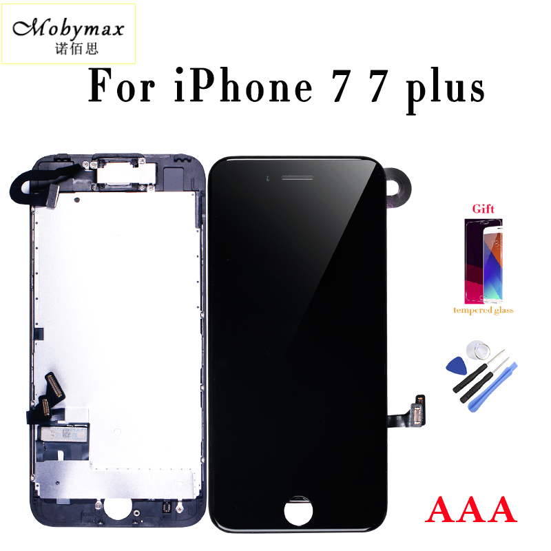 Mobymax retina display For iPhone7 7P LCD Touch Screen Digitizer Complete Assembly with front camera + sensor flex +small parts
