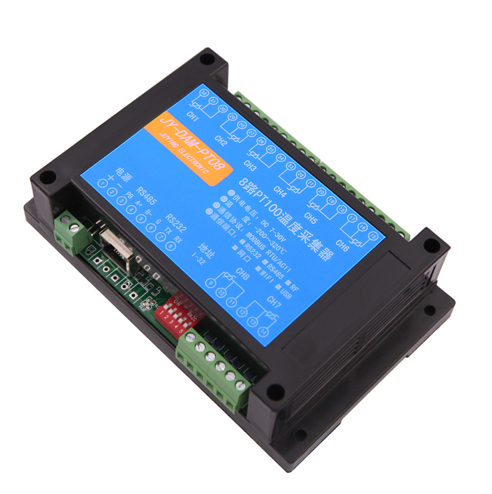US $105 9 |Isolated 8 Channels PT100 24 bit Input Thermocouple Temperature  Acquisition Module Modbus, RS232 RS485 USB Ethernet Wifi GPRS-in Instrument