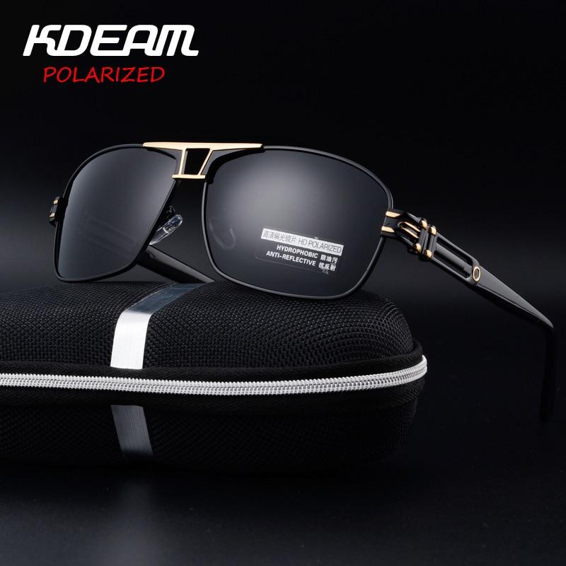 ce98cbe325087 Kdeam luxo óculos de sol revestimento polarizada espelho óculos de sol dos  homens de alumínio e magnésio óculos masculinos óculos acessórios para  homens