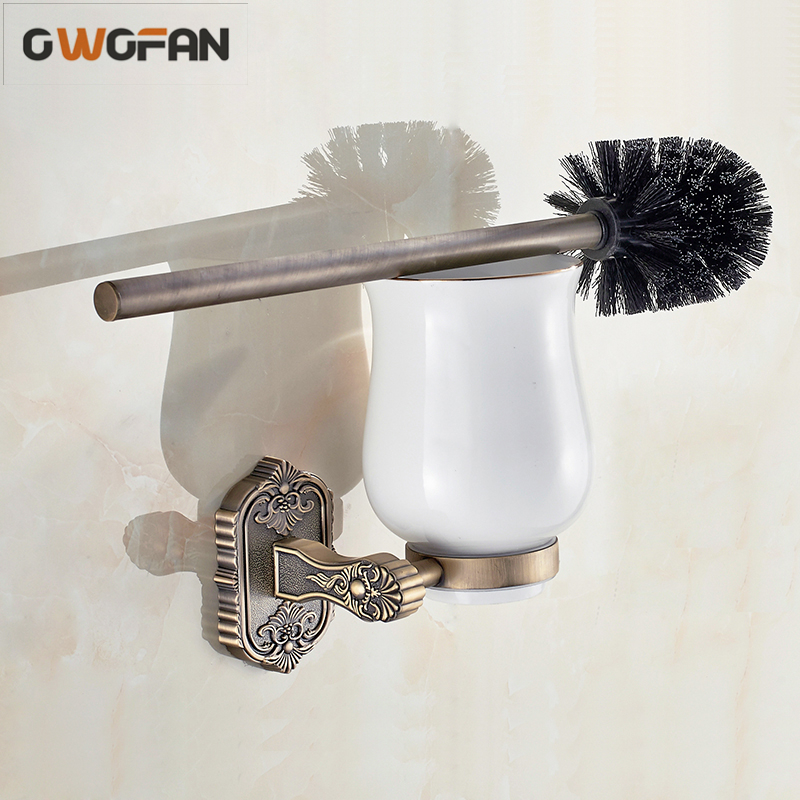 Buy toilet brush holders antique bronze - Wall mounted ceramic bathroom accessories ...