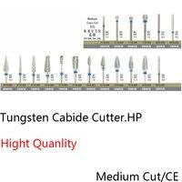 Dobre Quanlity Laboratorium Dentystyczne stomatologia Wierteł Z Węglika wolframu Zadziory Szlifowania Dremel Obrotowy Wiertła Wolframu Średni Cięcie Poprzeczne 2.35mm