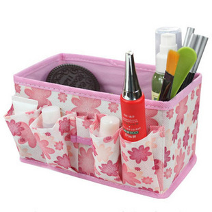 Free Shipping 5 pcs/lot Folding Cosmetic Storage Boxes Desktop Storage Box Sundries Storage Bag Factory Price 3 Color Wholesale