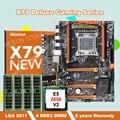 Korting moederbord met M.2 slot HUANAN ZHI deluxe X79 moederbord bundel met CPU Intel Xeon E5 2650 V2 RAM 32G (4*8G) REG ECC