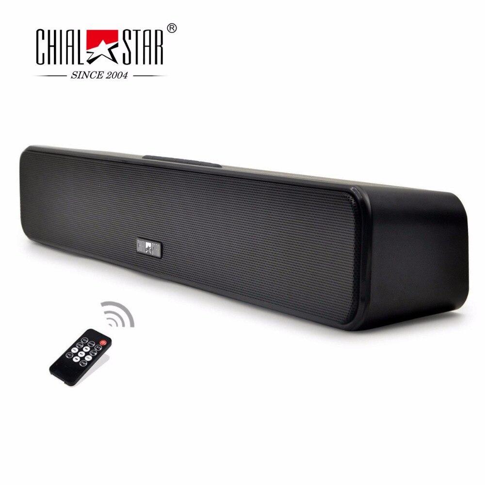 Chialstar Portable Soundbar 18 inch Mini Outdoor Wireless Sound bar Stereo Music Speaker Support SD Card,USB,FM Remote Control