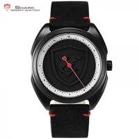 Fashion Collared Carpet Shark Sport Watch Simple One Hour Hand Design Quartz Men Wristwatch Relogio Masculino Clock / SH574
