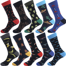 VPM Brand Cotton Men's Socks Funny Hip Pop Fruit Banana Hot Pepper Coffee Beans